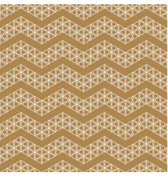 seamless pattern based on japanese ornament kumiko vector image