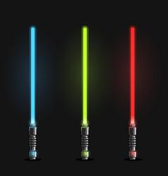 set futuristic light swords vector image