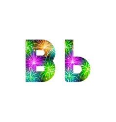 Set of letters firework B vector