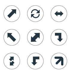 set of simple cursor icons vector image