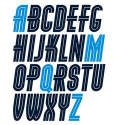 Set upper case bold regular english alphabet vector