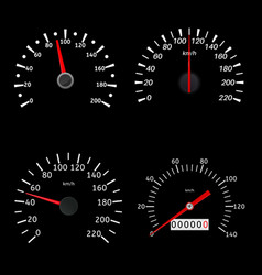 speedometers black various scales vehicles vector image