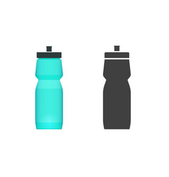 sport water bottle flat icon and shape vector image