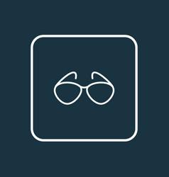 sunglasses icon line symbol premium quality vector image