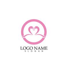 swan logoand symbols icons template vector image