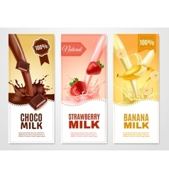 Sweet Milk Banners Set vector