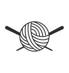 Thread ball and needle icon vector