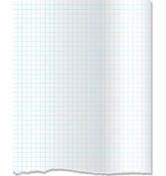 Torn graph paper vector
