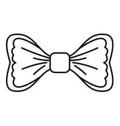 trendy bow tie icon outline style vector image