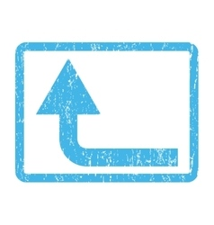 Turn forward icon rubber stamp vector