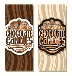 Vertical banners for chocolate candies vector