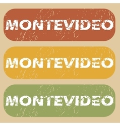 Vintage Montevideo stamp set vector