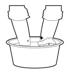 Washing in the basin icon outline vector