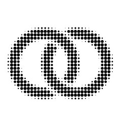 wedding rings halftone dotted icon vector image