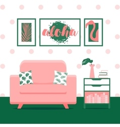 with living room vector image