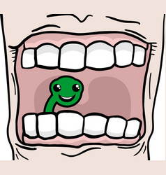Worm tooth vector