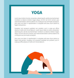 yoga and informational text vector image