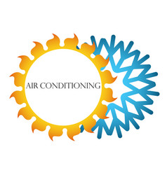air conditioning symbol vector image vector image
