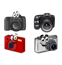 Cartoon digital cameras vector image vector image