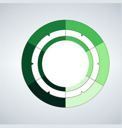 circle template for infographics business concept vector image