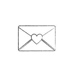 envelope message greeting heart love romantic vector image