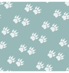 Paw prints Seamless background vector image vector image