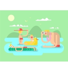 Vacation family design flat vector image vector image