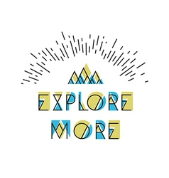 Explore More Abstract Icon Wilderness typography vector image vector image
