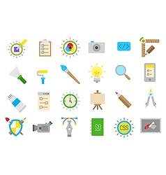 Graphic design isolated icons set vector image vector image