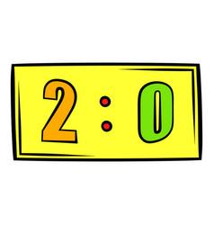 score icon icon cartoon vector image vector image