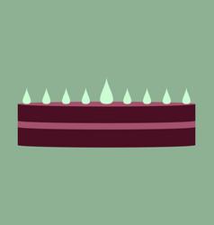 Sweet dessert in flat design cream cake vector