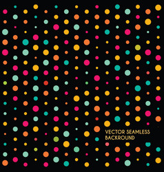 abstract dotted seamless backround vector image