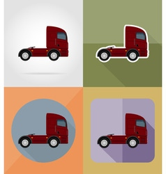 transport flat icons 14 vector image vector image