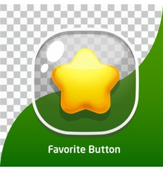 Button Glass Star Favorite vector image