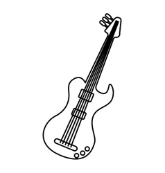 guitar electric isolated icon vector image