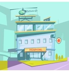 Hospital Cartoon Background vector image vector image
