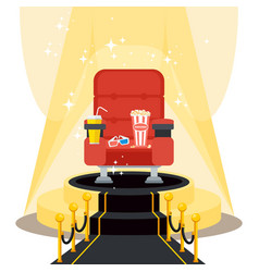 seats on black carpet vector image