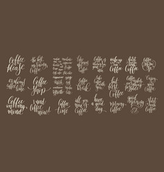 set of hand written lettering inscription design vector image