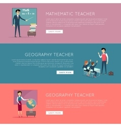 Set of School Education Banners vector image vector image