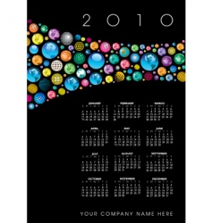 2010 globe calendar vector