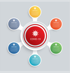 6 infographic circle and network template vector