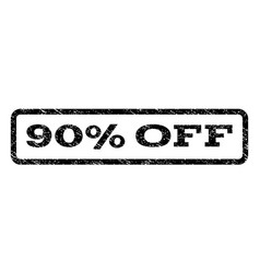 90 percent off watermark stamp vector