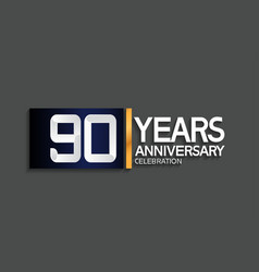 90 years anniversary logotype with blue vector