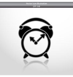 alarm clock web icon vector image