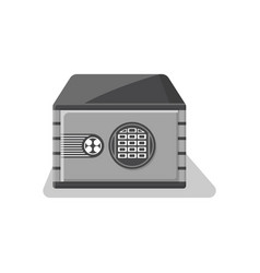 armored deposit box icon in flat style vector image