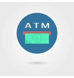 atm icon with shadow vector image
