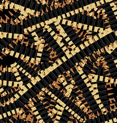 Bandolier Tape bullets seamless pattern Military vector image