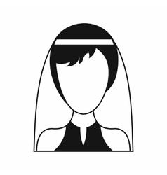 Beautiful bride icon simple style vector image