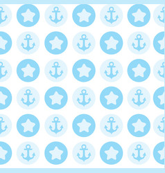Blue pattern the anchor for textile or card vector