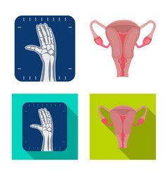 body and human sign vector image